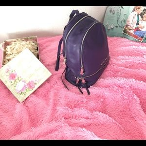 Michael Kors Rhea Large Purple Backpack